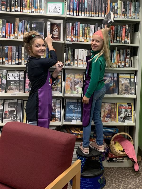 Library Helpers! Thanks Girls!