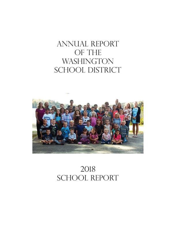 cover of 2017 Washington School District Annual report